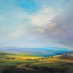 Panorama original abstract landscape painting