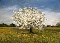 Spring tree original miniature painting