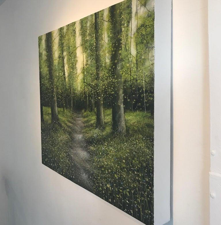 The original oil landscape painting by Garry R Pereira is painted on deep edge stretched canvas.  The Artwork is signed & Ready to be displayed.      Garry Pereira was born in 1974 and studied art at Norwich, Loughborough and Lowestoft Colleges of