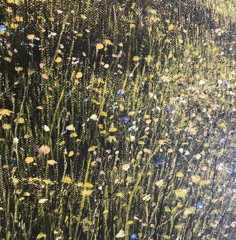 Down Chorus original Bluebells Forest landscape painting For Sale 2