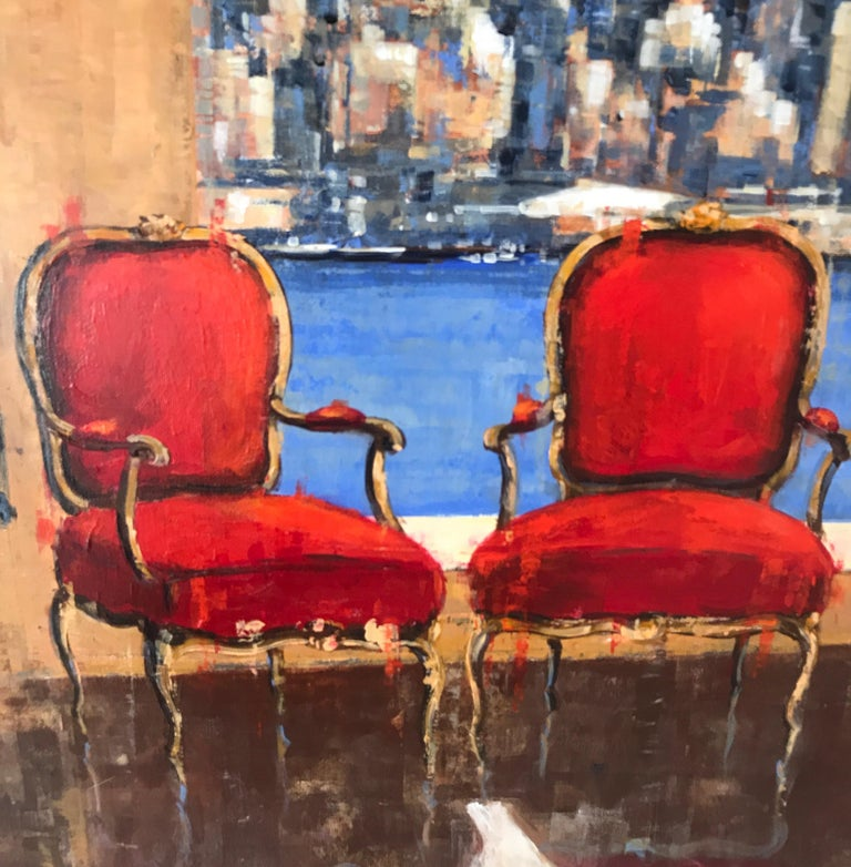 Side to Side original NYC Landscape interior painting- Contemporary Art - Painting by Nathan Neven