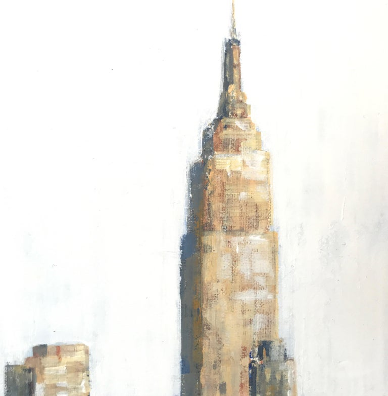 Side to Side original NYC Landscape interior painting- Contemporary Art - Abstract Impressionist Painting by Nathan Neven