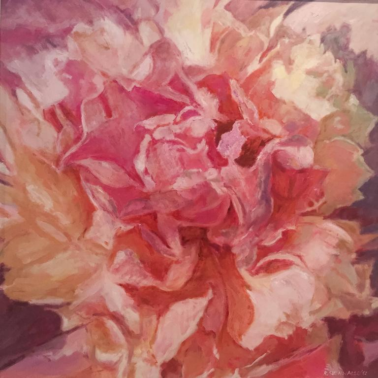 The Flower Pink  abstract landscape painting