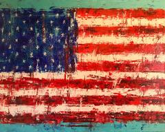 The Flag abstract painting