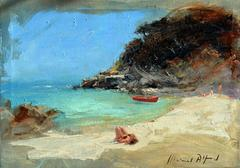Summer Beach Study II Alstract Landscape Painting