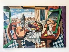 Bodegon Madrleno Diptych original cubism painting