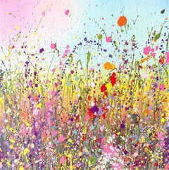 Wild Flowers II original abstract landscape painting