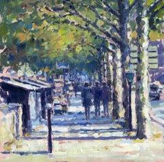 A walk along the Seine Paris original City landscape painting