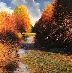 Autumn on the River  original landscape painting
