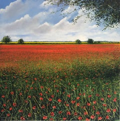 Poppy Landscape  original landscape painting