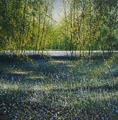 Brunches Bluebells original landscape painting