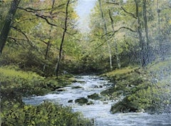 Long Weekend  original forest miniature painting