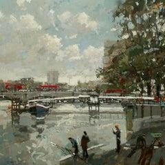 Putney bridge original city landscape painting