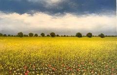 Home original floral landscape  painting