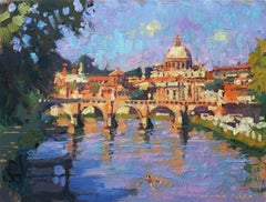 Rome Morning Light original city landscape painting