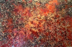 The Earth LXXXL  abstract textured mixed media landscape painting