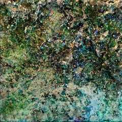The Earth XXXIV3-3  abstract textured mixed media landscape painting