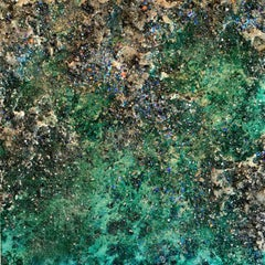The Earth IX abstract textured mixed media landscape painting