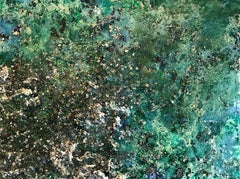 The Earth XXXV-4 abstract textured mixed media landscape painting