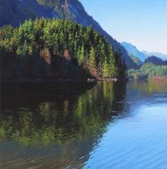 Morning Visit Original mountain Lake landscape painting