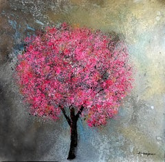 Blossom Park walk  original floral abstract  painting