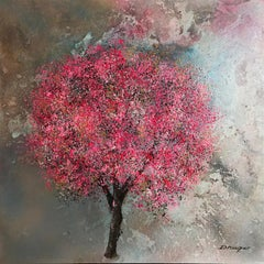 Blossom Mulberry Walk original floral abstract  painting