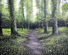 Down Chorus original Bluebells Forest landscape painting