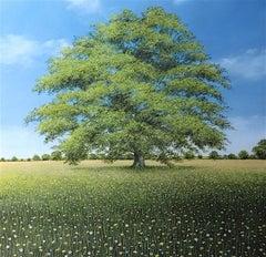 Making Mornings original Floral Tree landscape painting
