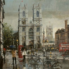Westminster Abbey original city landscape painting