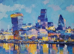 London VI  abstract city landscape painting