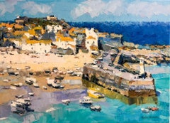 Lighthouse,  Majorca abstract city landscape painting