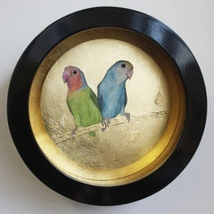 Two Lovebirds original  painting