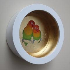 Love birds original  painting