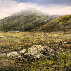 Mountain Walk I  original landscape miniature painting