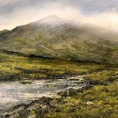 Mountain Walk III  original landscape miniature painting