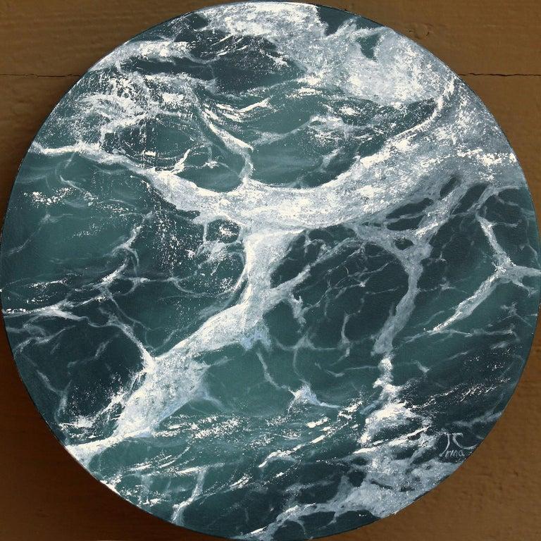 Moon Sea 6 original seascape painting - Painting by Irina Cumberland