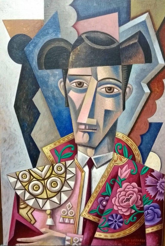 El Maestro original cubism painting - Painting by Borja Guijarro
