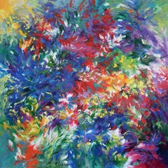 Crescendo abstract floral landscape painting