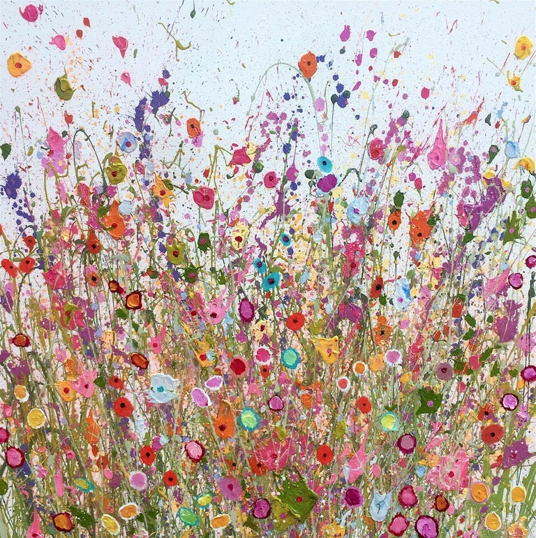 Yvonne Coomber Abstract Painting - All Magic Dances  original abstract landscape painting