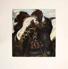 Hugo Wilson, Chromo Hunt, set of nine hand coloured etchings, 2001