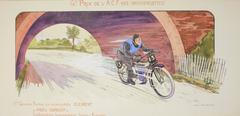 Grand Prix de l'A.C.F. 1913 (Motocyclettes), 1er. Greame Fenton sur autocyclette