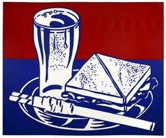 Roy Lichtenstein, Sandwich and Soda, screenprint, 1964, printer's chop mark