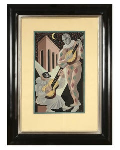 Gino Severini, Fleurs et Masques: a Set of Six Pochoir plates, 1930