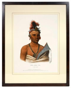 Charles Bird King, Six Native American Chiefs and Warriors, lithograph, 1842