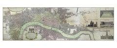Homann Heirs, Urbium Londini et West-Monasterii nec non Suburbii Southwark, map