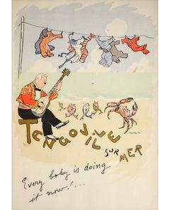 SEM (Georges Goursat), Set of Lithographs of Tango Dancing, pochoir, 1913