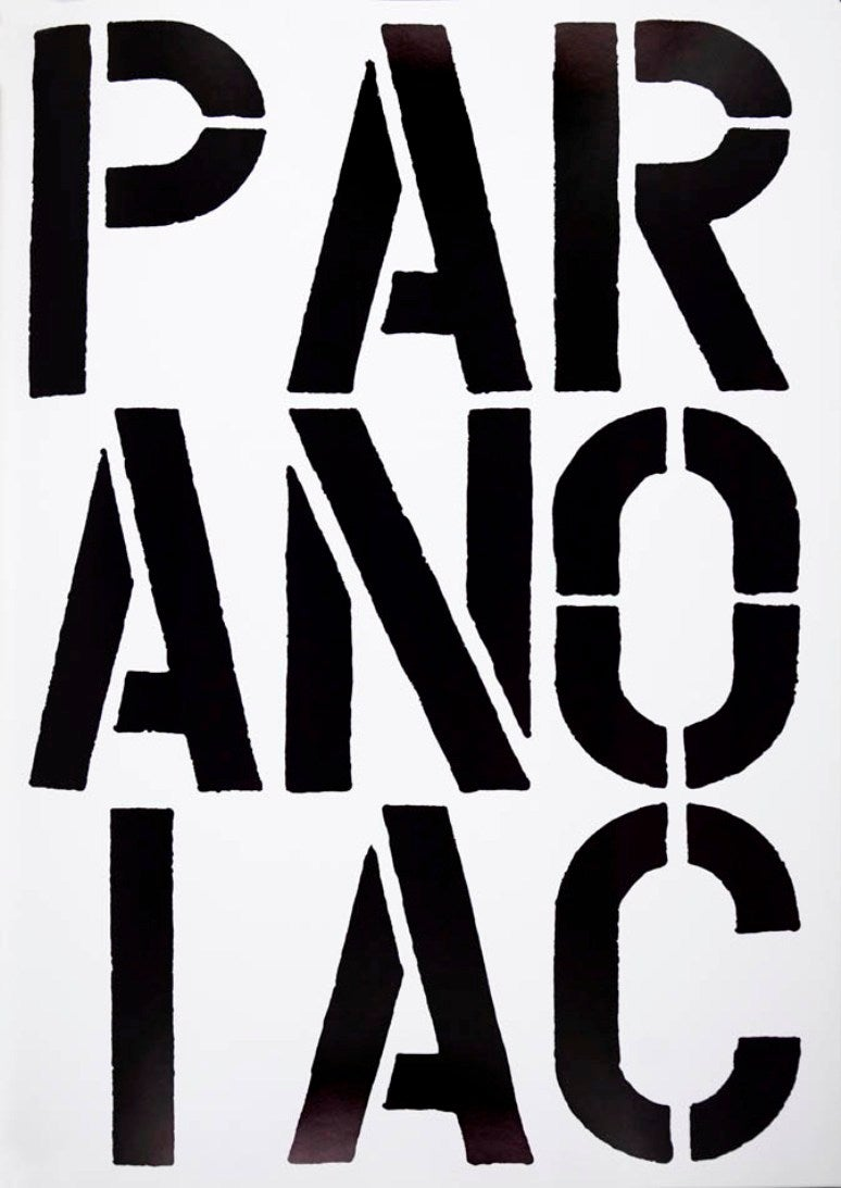 A single page extracted from <i>Black Book</i>, 1989, by Christopher Wool, offered by Shapero Modern