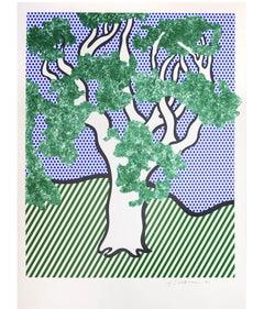 Roy Lichtenstein, Rain Forest, screenprint, 1992, signed