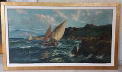 "PEDRO NAVARRO - ORIGINAL OIL CANVAS - "" MARINA "" 1910"