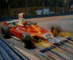 "ALEX BALAGUER - ORIGINAL - "" Niki Lauda · Montjuïc 1975 · Ferrari 312T"""